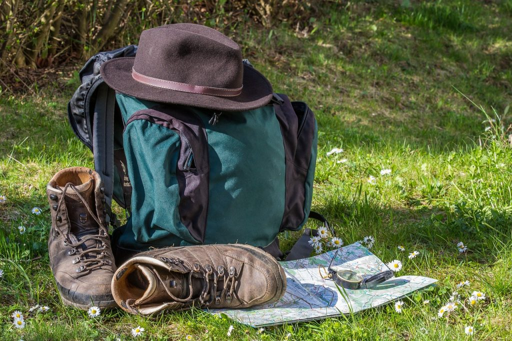 hiking, map, orientation