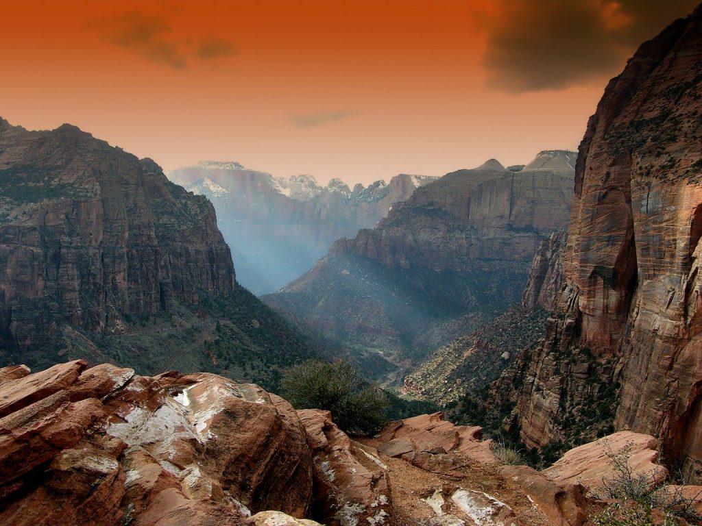 zion park, utah, mountains